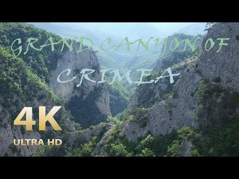 Great canyon of Crimea  4К ~ Большой каньон Крыма