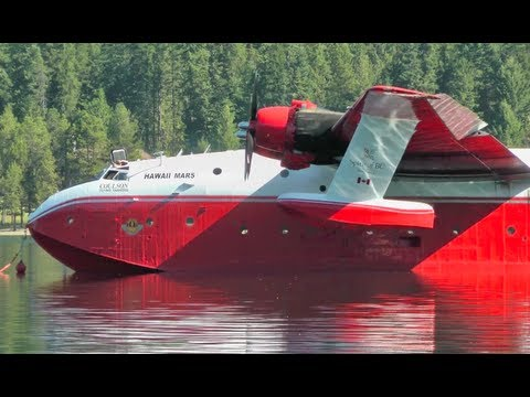Martin Mars Water Bomber Engine Start Up