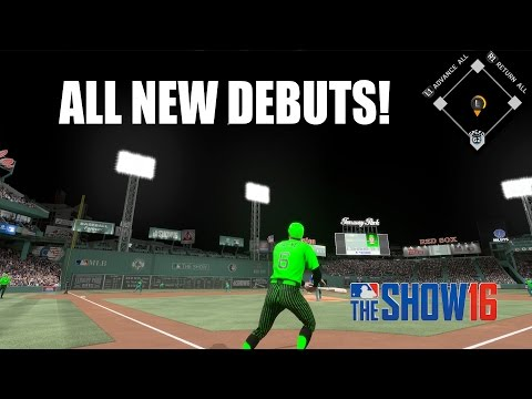 All New Debuts! - MLB The Show 16 Diamond Dynasty Gameplay #1