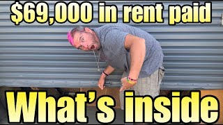 $69,000 in RENT PAID for $100 unclaimed abandoned storage unit WHAT'S INSIDE ? found treasure !!!