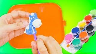 Đồ chơi tô màu tượng động vật - MiMi Làm đồ chơi tô màu tượng động vật -  Đồ chơi em bé mới nhất