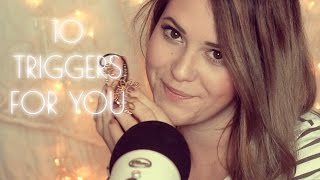 ASMR Einschlaf Trigger ♡ 10 Triggers to help you Sleep in German and English | softly spoken