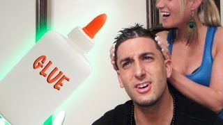 HAIR GEL GLUE PRANK