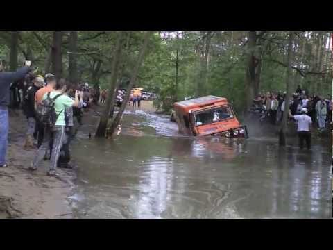 LKW Rallye Drezden breslau Trucks crossing the river mud drowned flipping IFA MAN Unimog Mercedes.