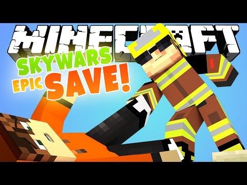 ЭПИЧНОЕ СПАСЕНИЕ! [Minecraft Team SkyWars Mini-Game]
