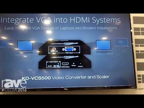 CEDIA 2016: Key Digital's KD-MLV4x2 Allows For Four Sources to be Viewed on a Single Screen