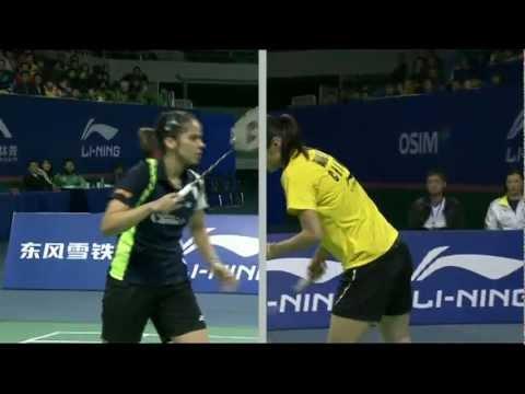 Final - WS - Wang Yihan vs Saina Nehwal - WSS Finals'11