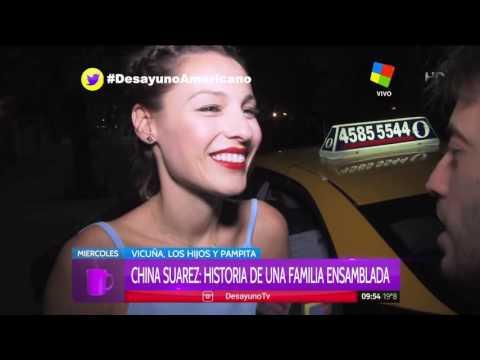 China Suárez, enojada, respondió sobre su imagen con los hijos de Pampita