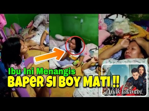 Ibu Dan Anak Ini Menangis Baper Nonton Sinetron Boy Anak Jalanan Mati !!