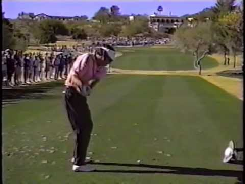 Here is a golf swing of Bruce Lietzke in slow motion from a while back. It was a 188 yard five iron that ended about 6± feet to the right of the pin. http://...