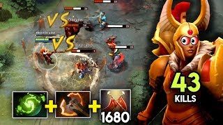 LEGION COMMANDER DOUBLE DUEL + BLATTE FURY + 1680 DUELS PATCH 7.16 NEW META DOTA 2 GAMEPLAY #2