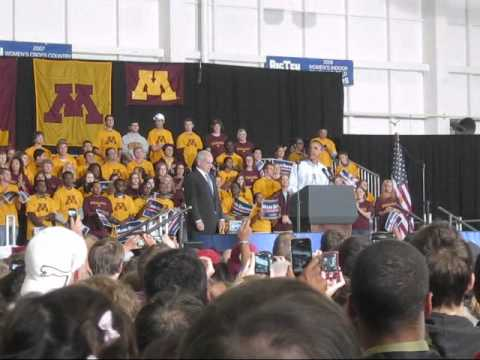 Obama in Minneapolis for Democrat rally supporting Mark Dayton GOV MN