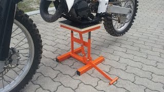 alzamoto fai da te (homemade dirt bike lift stand )