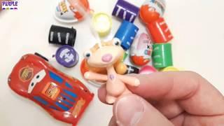 Kinder Surprise Eggs Kinder Joy Egg & Lightning Mcqueen Toys Kids Video
