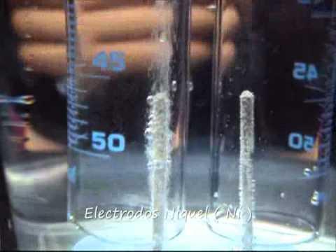 electrolisis del agua (II)