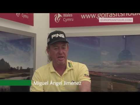 Wales Golf - Miguel Ángel Jiménez Interview - Senior Open 2014