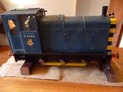 5 inch gauge scratch built electric, passenger hauling model of a BR Class 03, 0-6-0 diesel shunter.