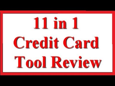 Credit Card Survival Tool Review - 11 in 1 Tool by SOS Rescue Tools on Amazon.com