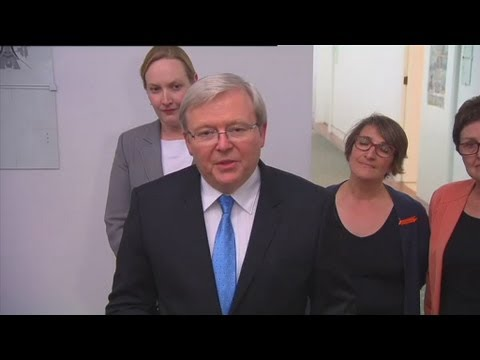 Rudd confirms he won't run in spill