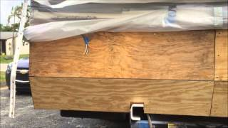 RV rotted wood repair #9 Quick update