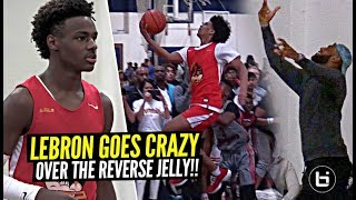 LeBron James Goes CRAZY Over NASTY Reverse Jelly By Bronny's Teammate Skyy Clark!! SFG Undefeated!