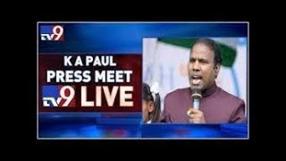 KA Paul Press Meet LIVE || Hyderabad