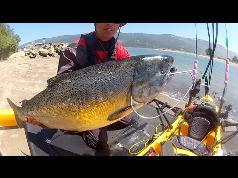California Coast Monster Kayak King Salmon fishing