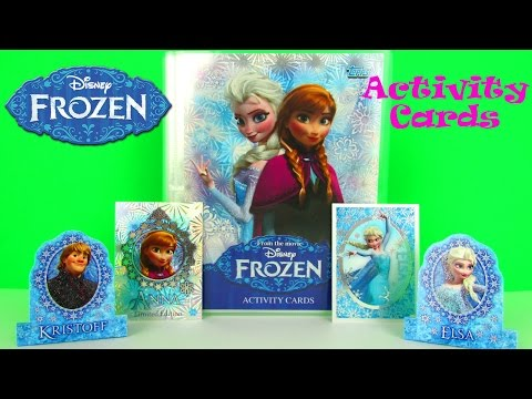Disney Frozen Activity Cards Starter Pack & Card Packs Opening & Kids Review. Topps
