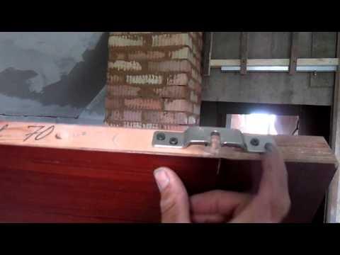 Видео как установить раздвижную дверь