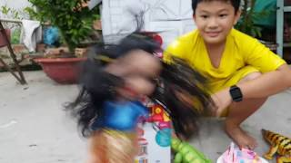 Baby Doli and Little house toys kids play Fresh Water