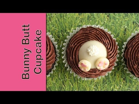 How to make Easter cupcakes - Bunny bum cupcakes