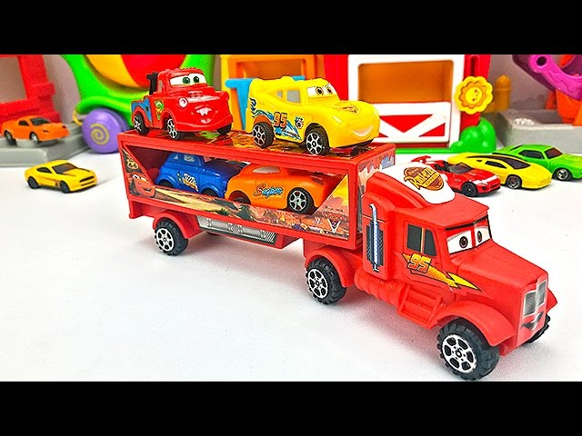 CamiГn Transportador de Autos para NiГos - Cars de Colores - Videos Infantiles