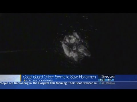 Coast Guard swimmer rescues 4 Oregon fishermen