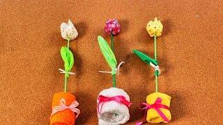 Manualidades Para La Madre | Tulipán Con Tela Reciclada | Hazlo Tu Mismo|
