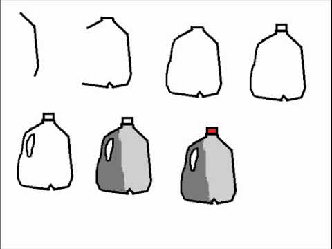 How To Draw Milk Carton Jug Step By Step Drawing