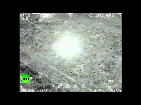 Iraq combat cam video: Military aircraft bombs ISIS hideouts in Mosul