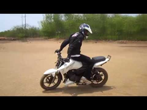 India's Best pro Bike Stunt on TVS Apache 180 - By STUNTDEVIL Team HPz