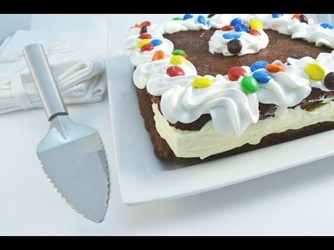 How to Make a Giant Brownie Ice Cream Sandwich - Ice Cream Cake | RadaCutlery.com