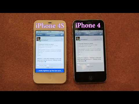 iPhone 4S vs iPhone 4 - Speed Test