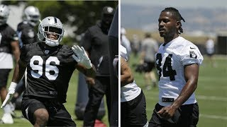 Oakland Raiders Clelin Ferrell, Antonio Brown GET TO WORK At Minicamp!