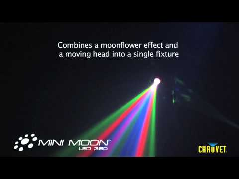 Chauvet Mini Moon rotating LED Moonflower Effect Light