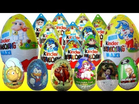 20 Kinder Surprise eggs Limited edition Easter eggs Mickey Mouse Disney Маша