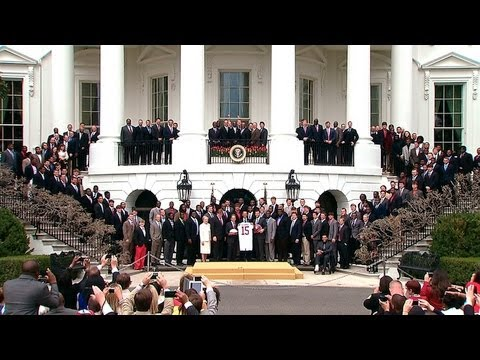 President Obama Welcomes BCS National Champion Alabama Crimson Tide