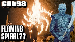 Flaming Spiral Explained | Game of Thrones Season 8 | Night King Symbol Episode 1