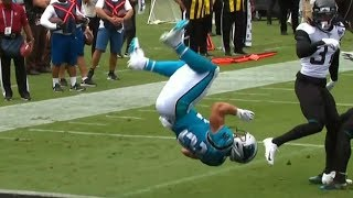 Christian McCaffrey Flips Into Endzone For Athletic Touchdown