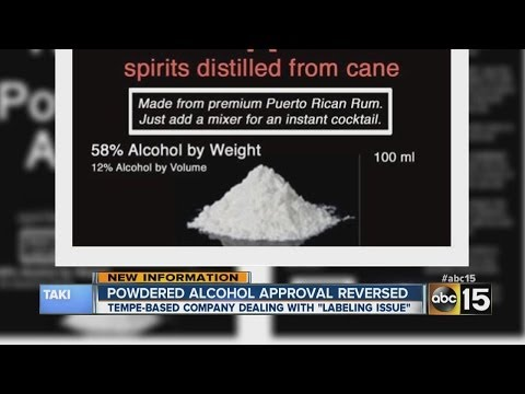 Powdered alcohol approval reversed,