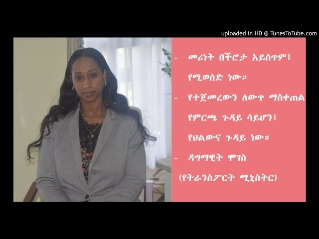 Dagmawit Moges: Ethiopian Woman in Politics - SBS Amharic