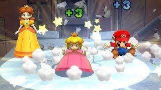 Mario Party 9 MiniGames - Mario Vs Yoshi Vs Daisy Vs Peach