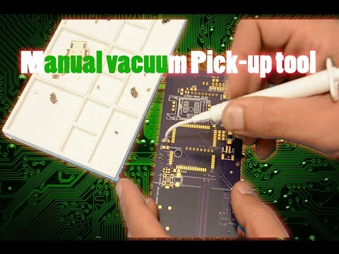 DIY manual vacuum pick-up tool