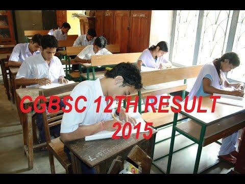 CGBSE 12th result 2015 top 10 Chhattisgarh board 12th results merit list